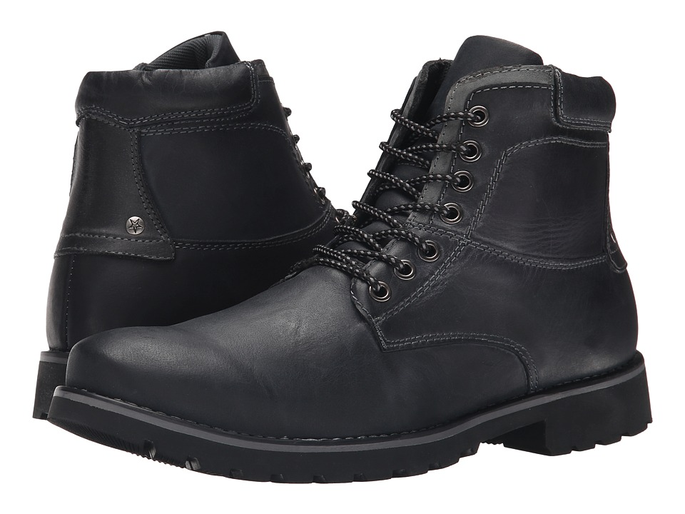 Steve Madden - Crosserr (Black Leather) Men