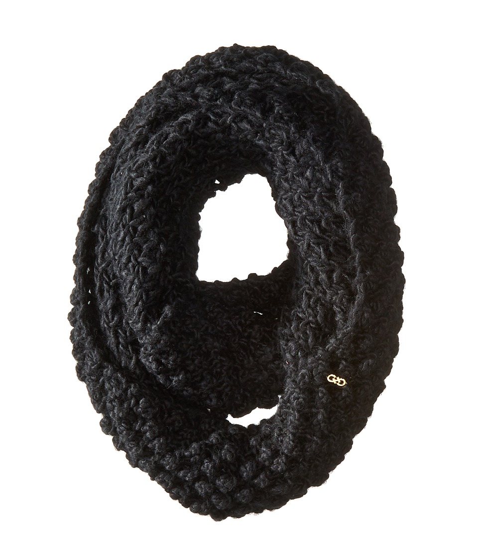 Cole Haan - Popcorn Stitch Handknit Infinity Scarf (Black) Scarves