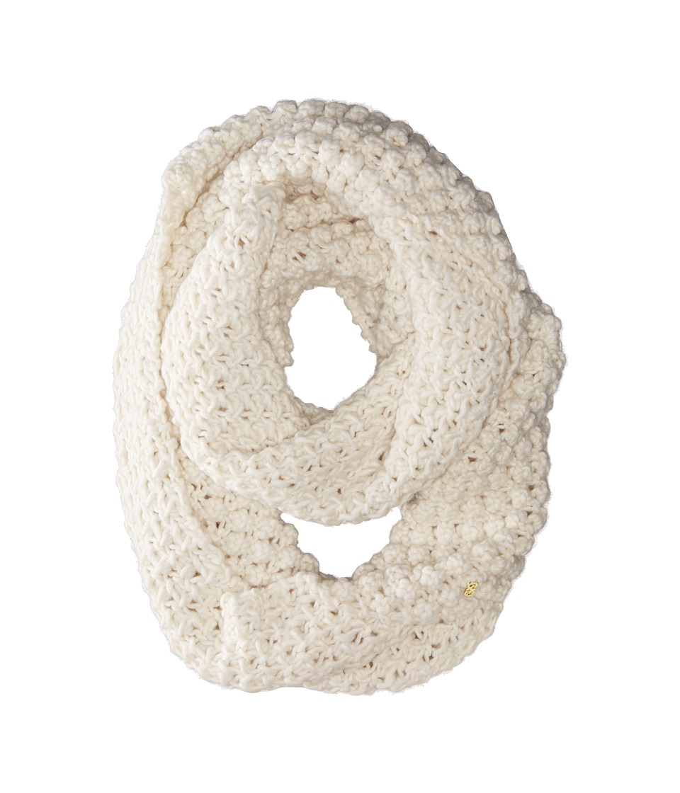 Cole Haan - Popcorn Stitch Handknit Infinity Scarf (Ivory) Scarves