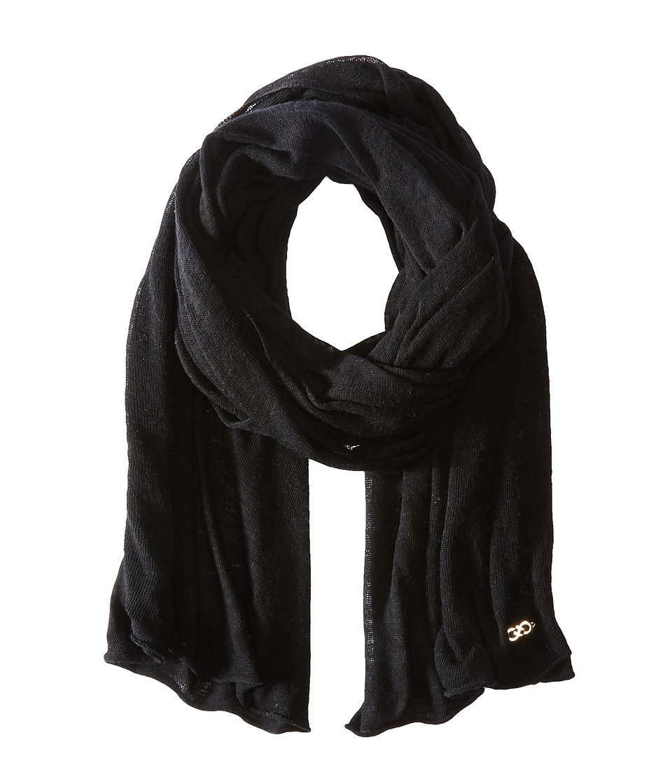 Cole Haan - Feather Weight Jersey Oversized Scarf (Black) Scarves