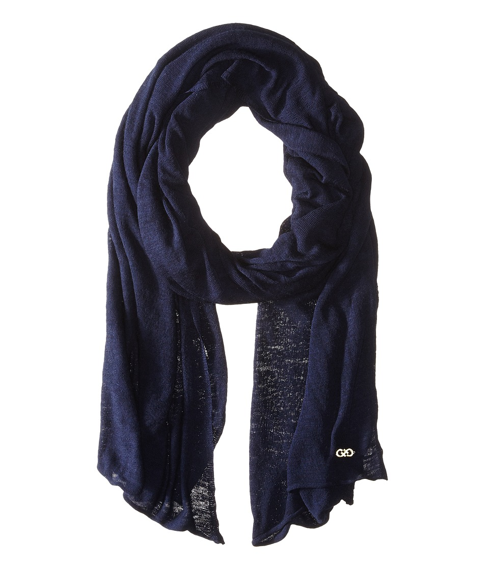 Cole Haan - Feather Weight Jersey Oversized Scarf (Blazer Blue) Scarves