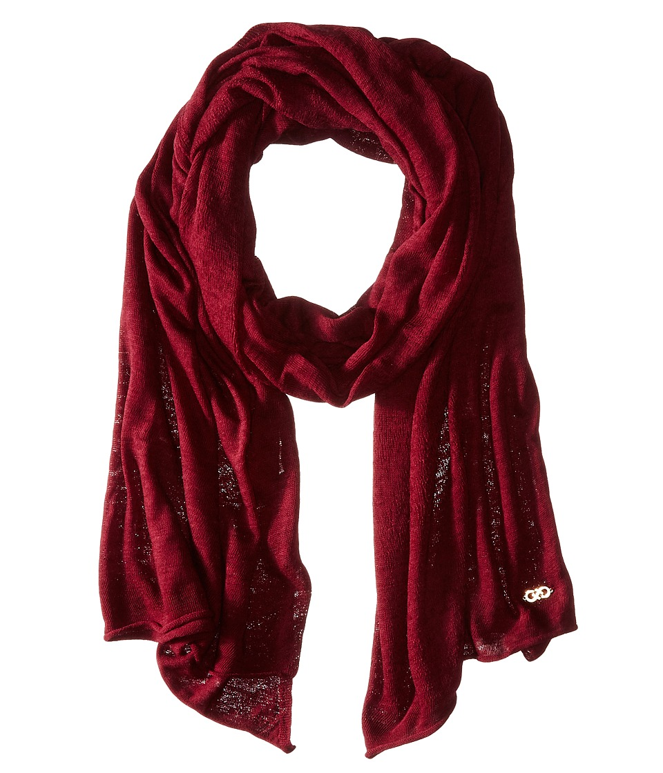 Cole Haan - Feather Weight Jersey Oversized Scarf (Zinfandel) Scarves