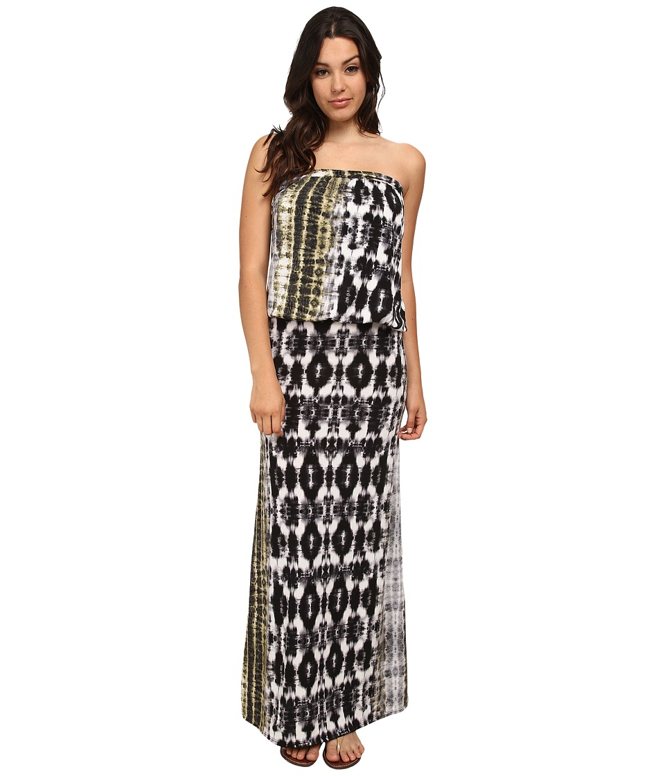 Brigitte Bailey - Sleek Riena Maxi Dress (Black/White Print) Women's Dress