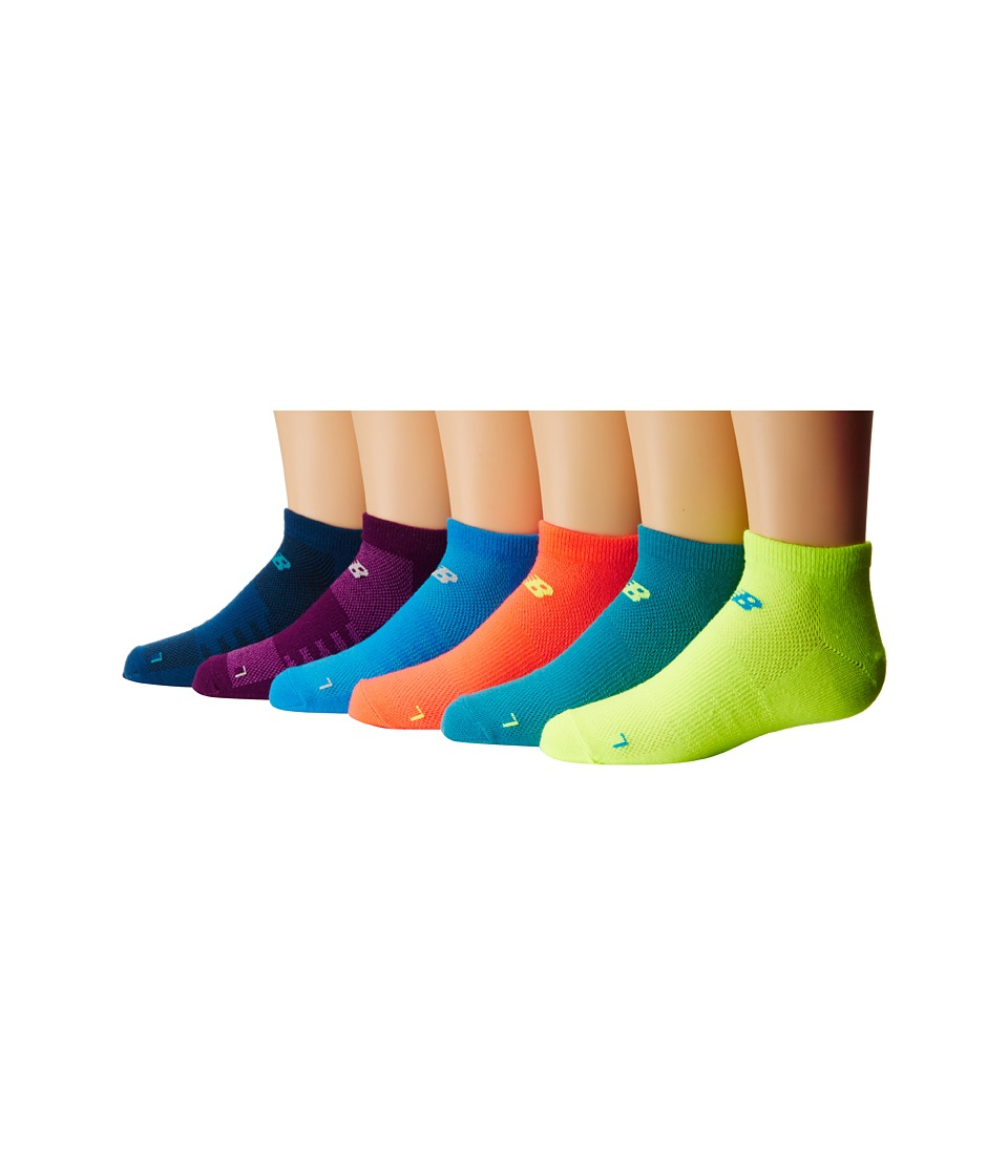 New Balance - No Show 6-Pack (Toddler/Little Kid/Big Kid) (Assorted 4) No Show Socks Shoes