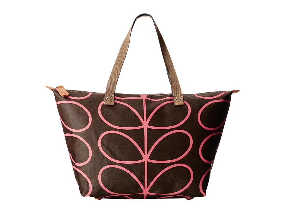 Orla Kiely - Zip Shopper (Nutmeg) Tote Handbags