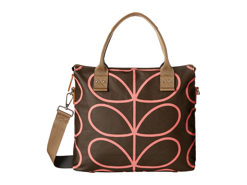 Orla Kiely - Zip Messenger (Nutmeg) Satchel Handbags