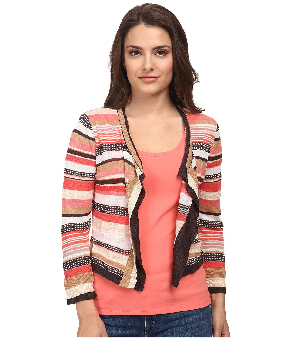 NIC+ZOE - Petite Bright Stripe Cardy (Multi) Women's Sweater