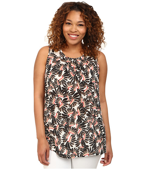NIC+ZOE - Plus Size Whirly Gig Top (Multi) Women's Sleeveless