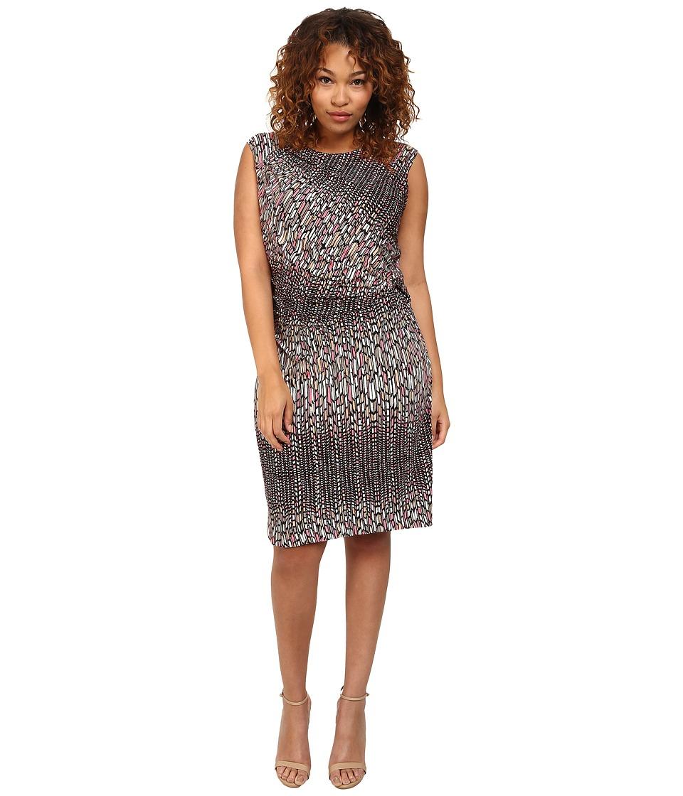 NIC+ZOE - Plus Size Paint Mark Dress (Multi) Women