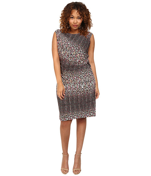 NIC+ZOE - Plus Size Paint Mark Dress (Multi) Women's Dress