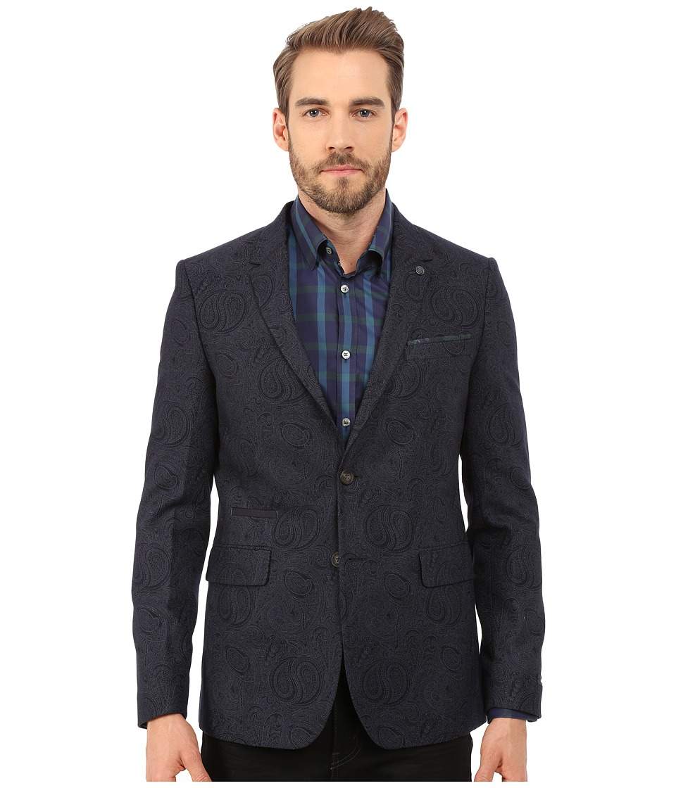 Ted Baker - Hiko Printed Paisley Blazer (Navy) Men's Jacket