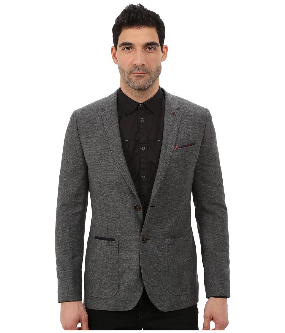 Ted Baker - Lasveg Mini Design Blazer (Charcoal) Men's Jacket