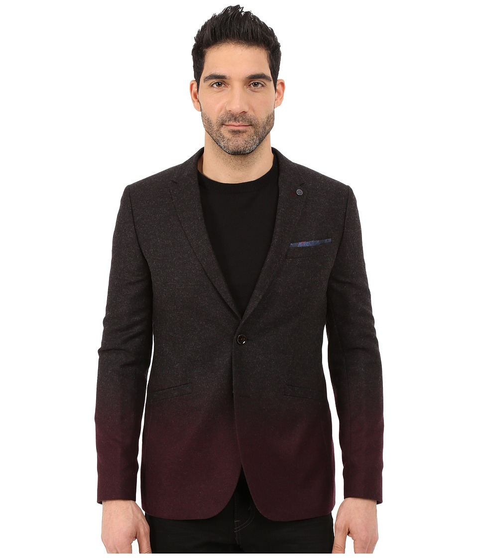 Ted Baker - Henders Ombre Wool Blazer (Charcoal) Men's Jacket