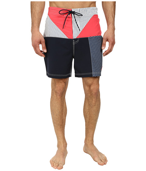 Nautica - Stripe Color Block Trunk (Paridise Pink) Men's Swimwear