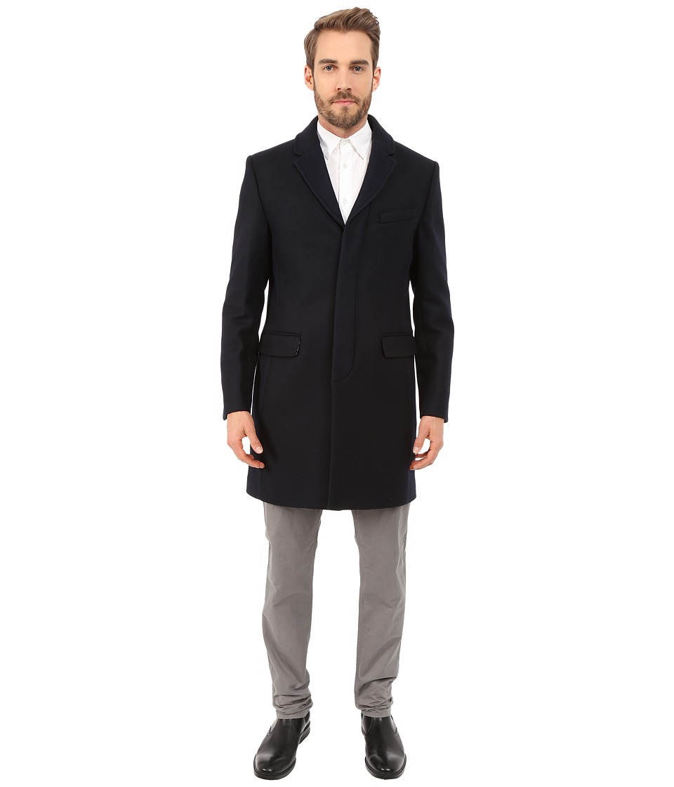 Ted Baker - Truxton Color Block Coat (Navy) Men's Coat