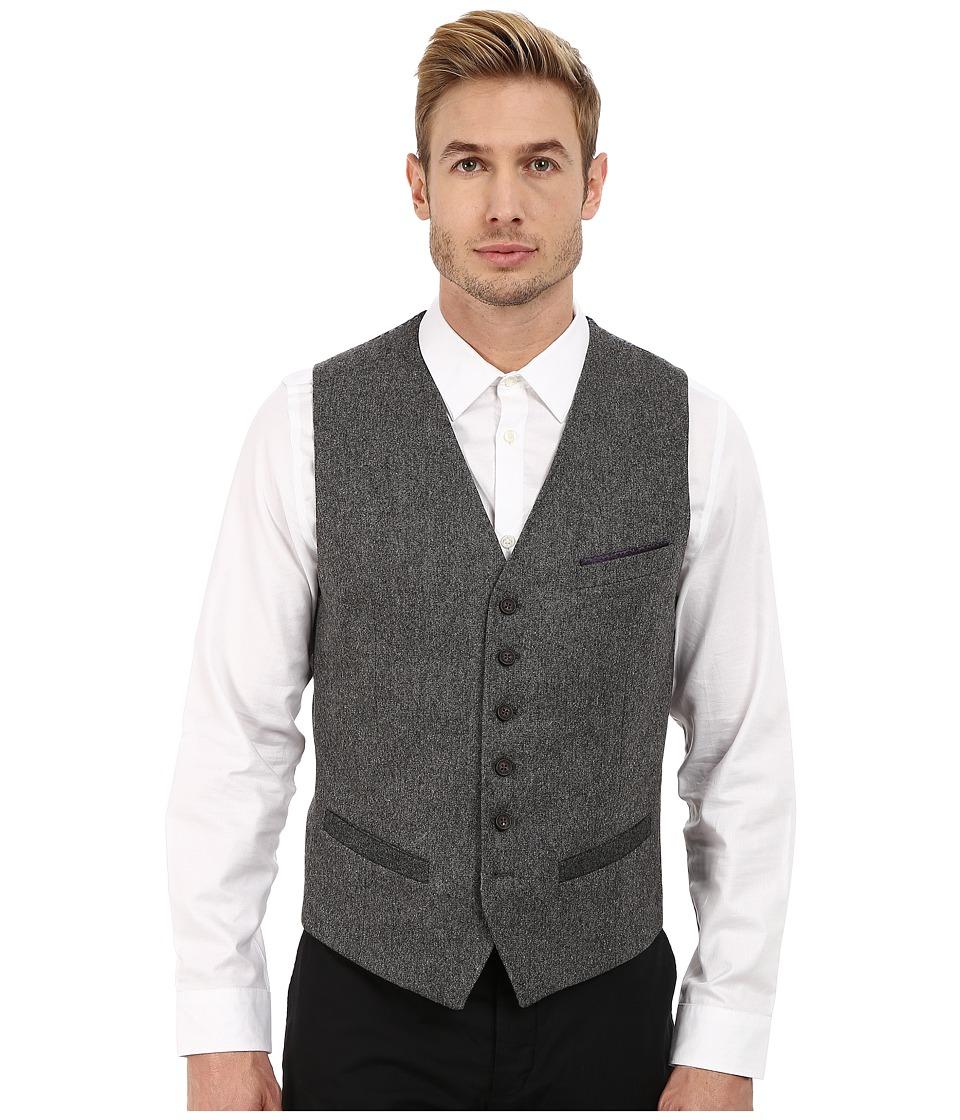 Ted Baker - Illiwai Contrast Trim Waistcoat (Grey) Men's Coat