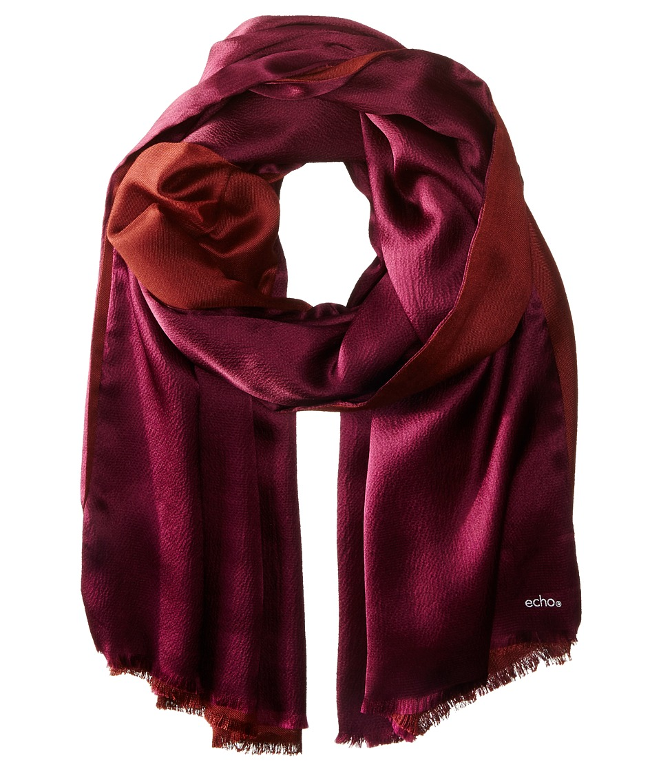 Echo Design - Hammered Silk Wrap (Boysenberry) Scarves