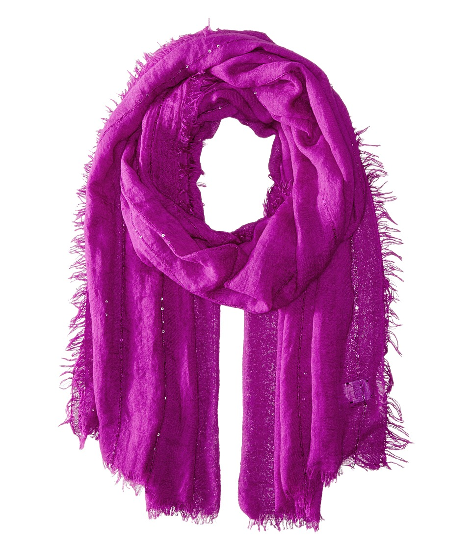 Echo Design - Crinkle with Sequins Wrap (Forest Berry) Scarves