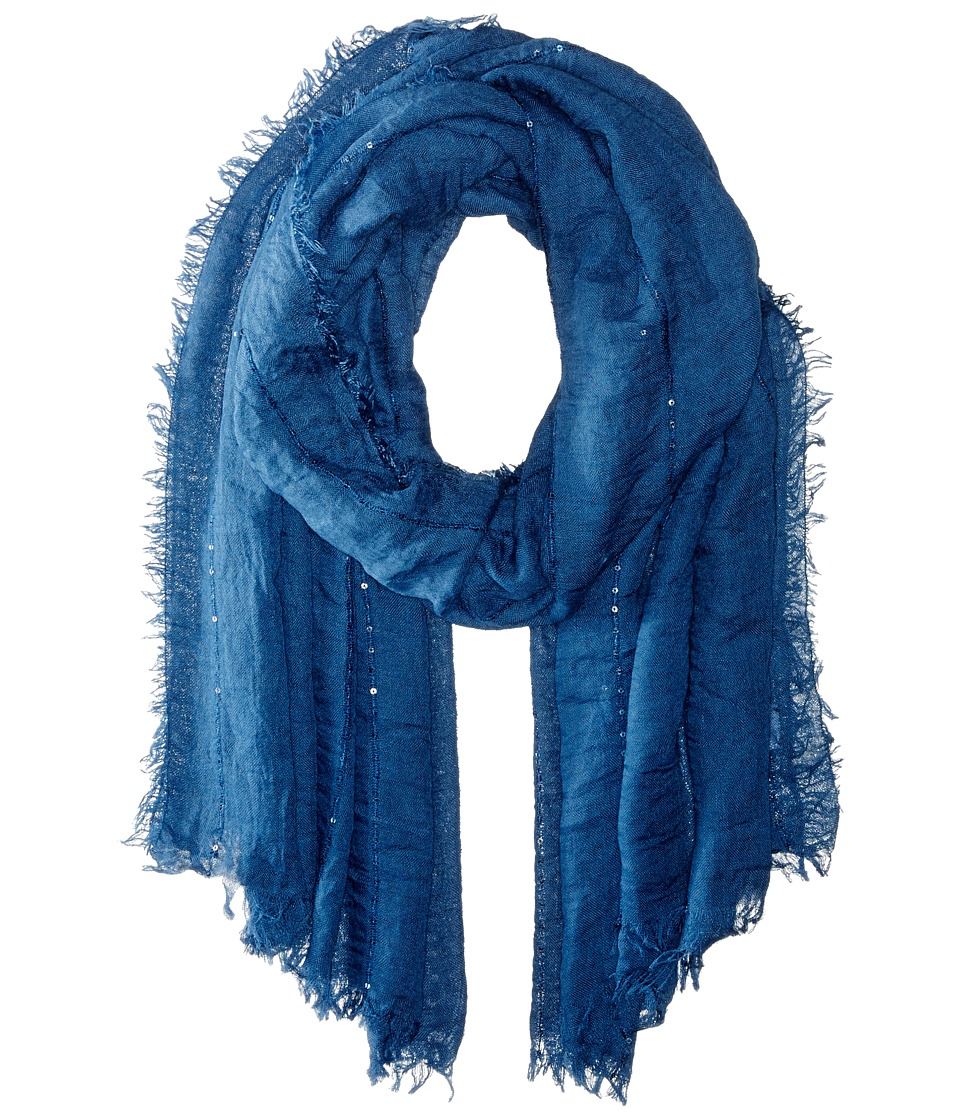 Echo Design - Crinkle with Sequins Wrap (Denim) Scarves