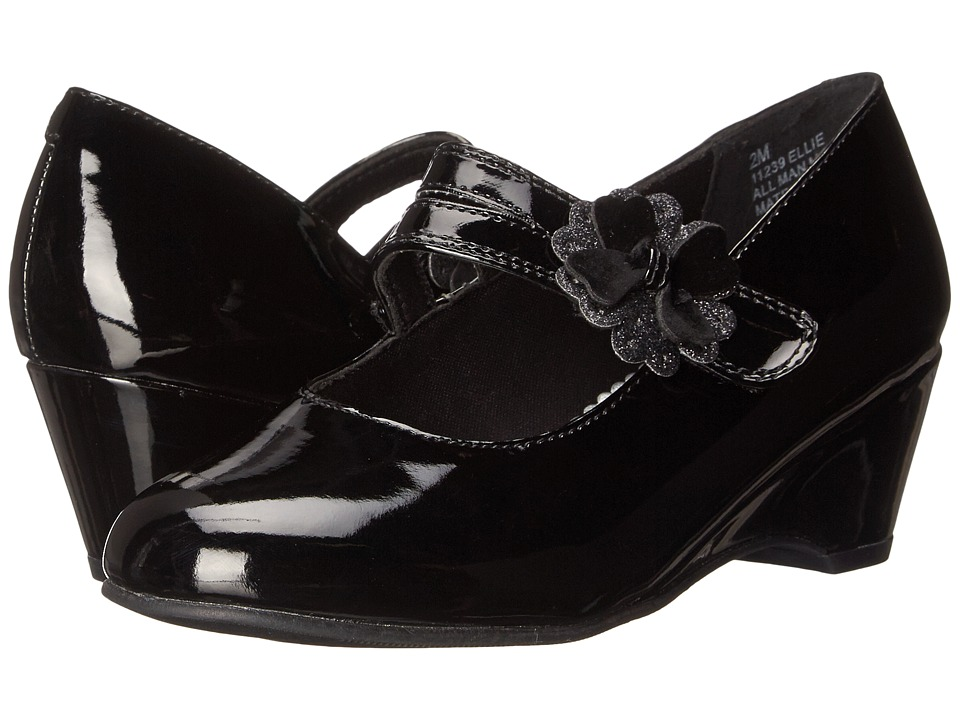 Rachel Kids - Ellie (Little Kid/Big Kid) (Black Patent) Girls Shoes
