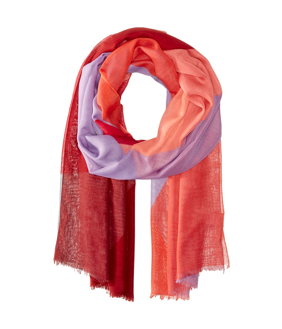 Echo Design - Prism Color Block Wrap (Fiery Red) Scarves