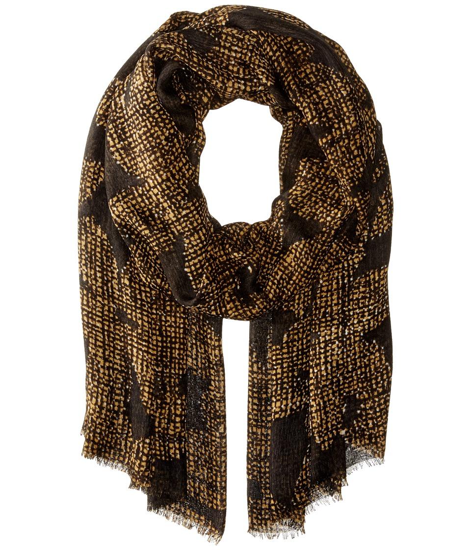 Echo Design - Textural Flower Wrap (Black) Scarves