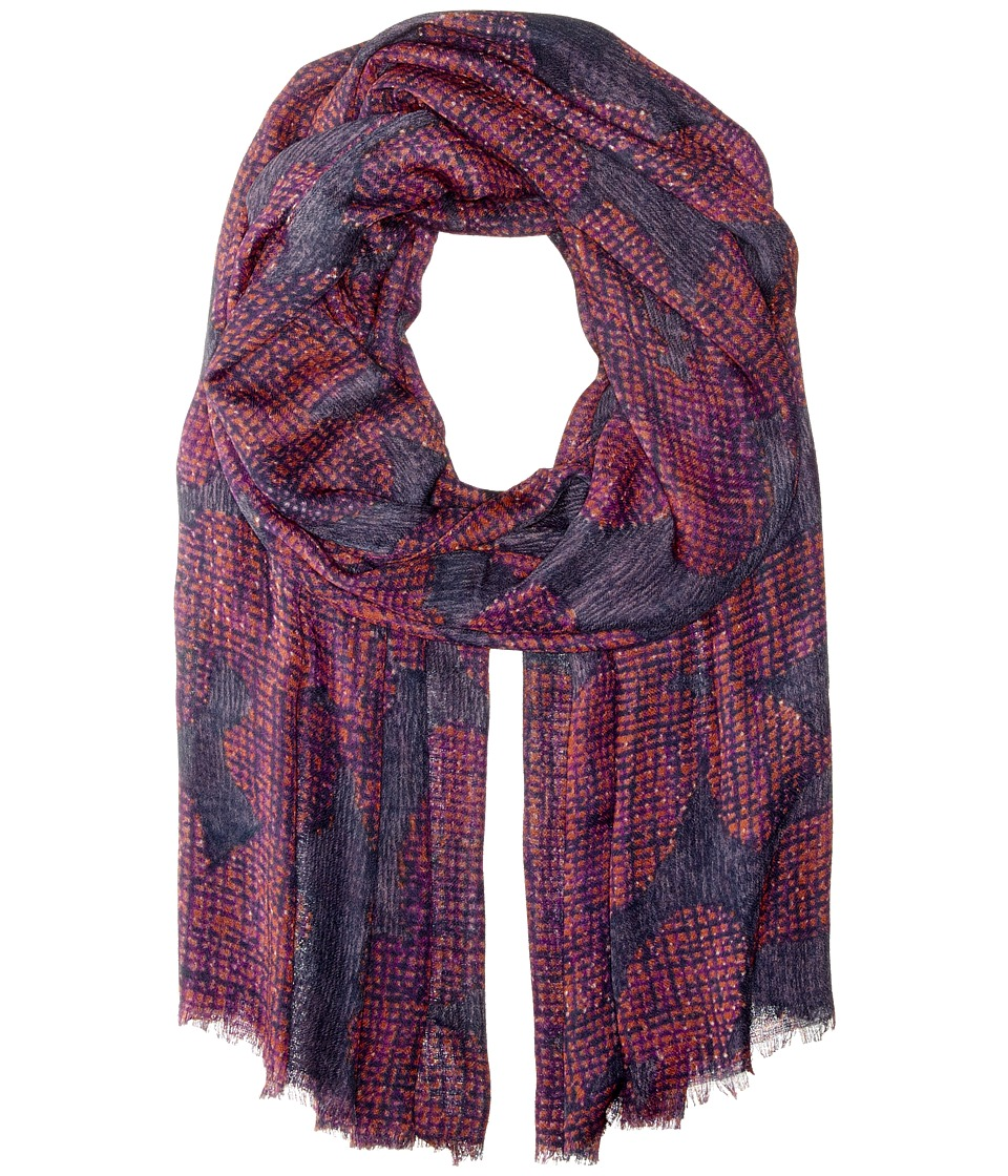 Echo Design - Textural Flower Wrap (Winter Slate) Scarves