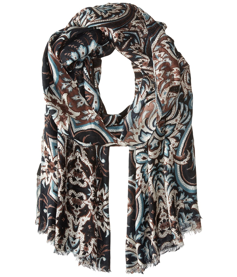 Echo Design - Romantic Paisley Wrap (Black) Scarves
