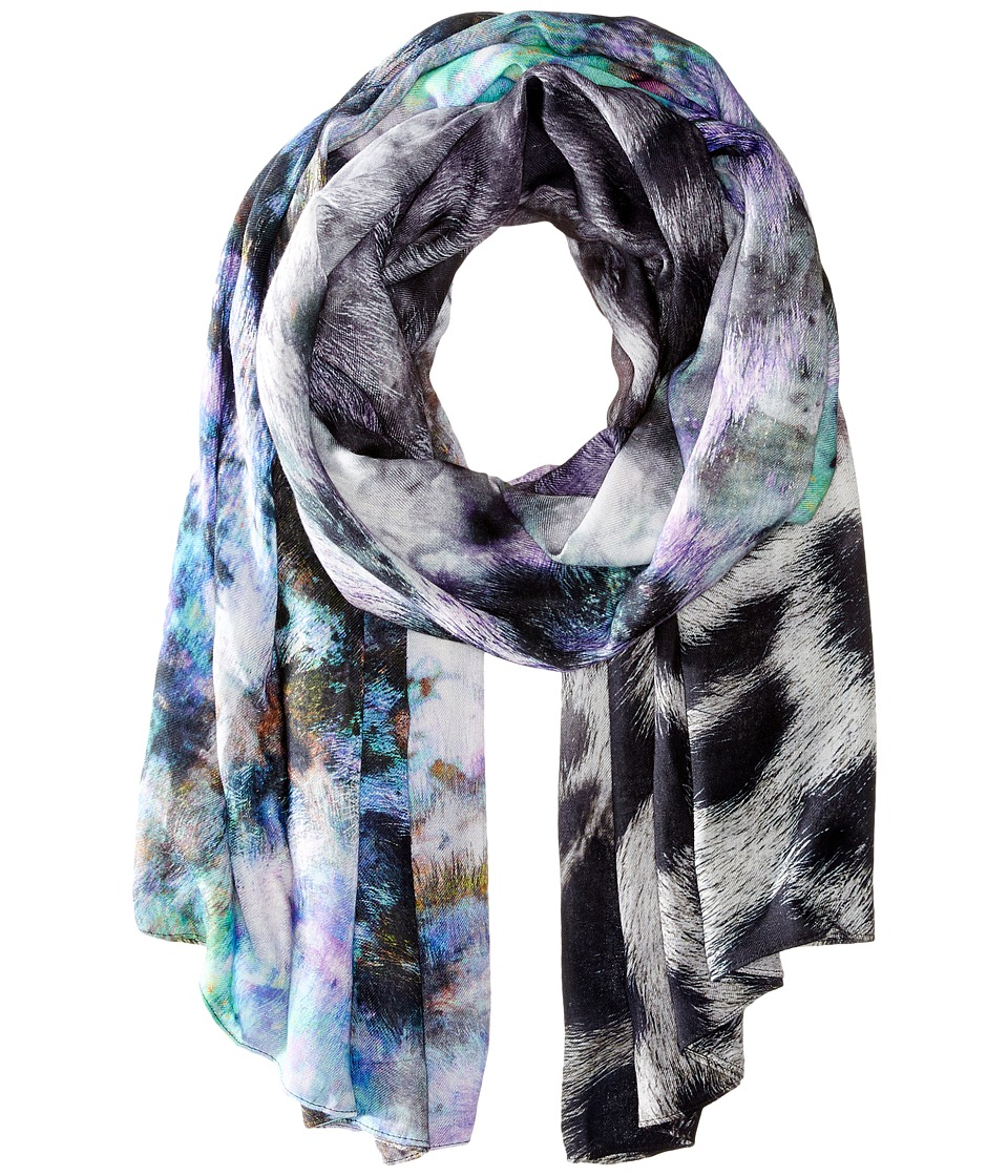 Echo Design - Artist's Leopard Oversized Wrap (Forest Dusk) Scarves