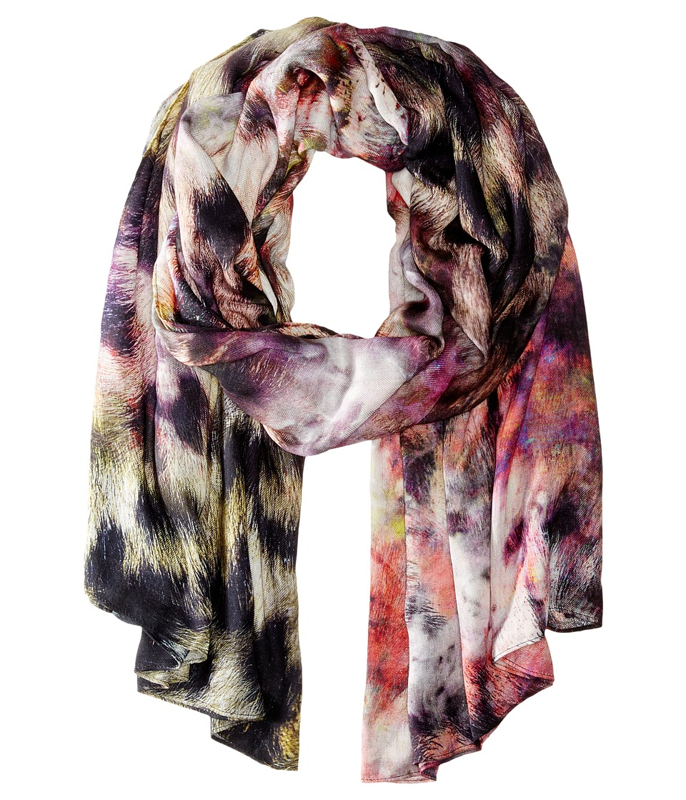 Echo Design - Artist's Leopard Oversized Wrap (Forest Berry) Scarves