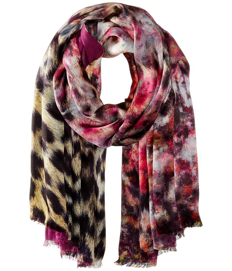 Echo Design - Artist's Leopard Tubular Wrap (Forest Berry) Scarves
