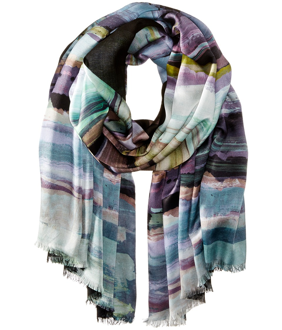 Echo Design - Brushstroke Tubular Wrap (Black) Scarves