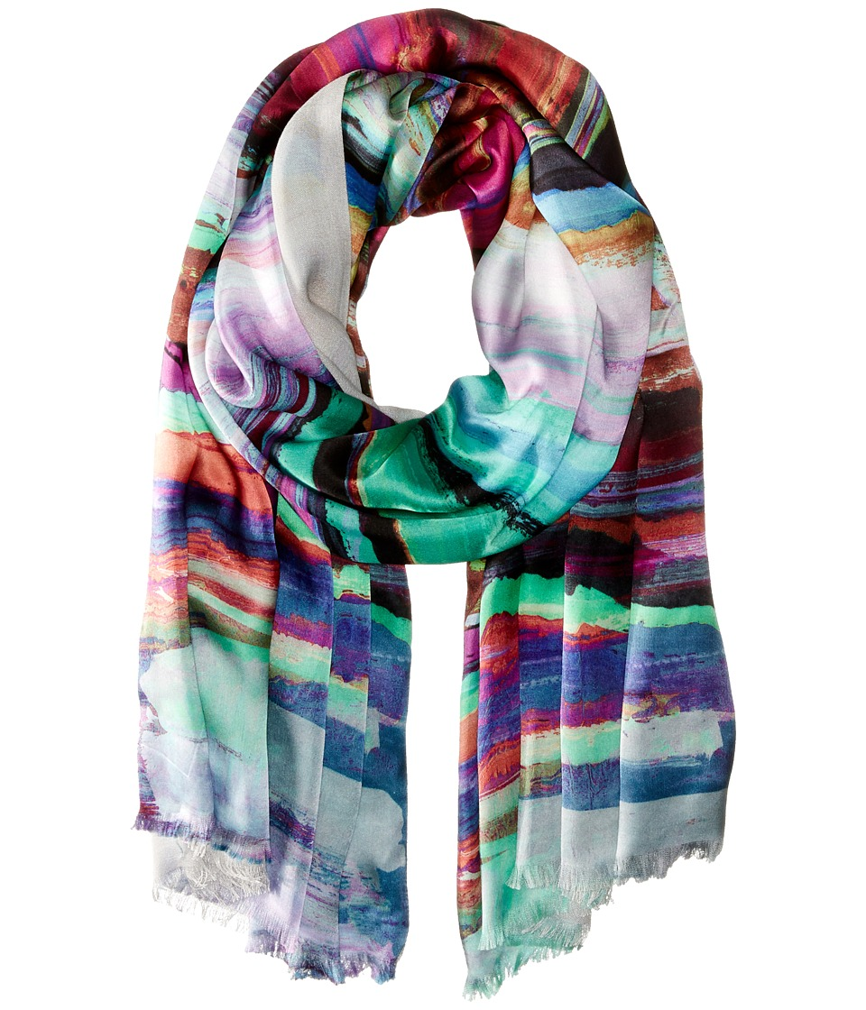 Echo Design - Brushstroke Tubular Wrap (Multi) Scarves