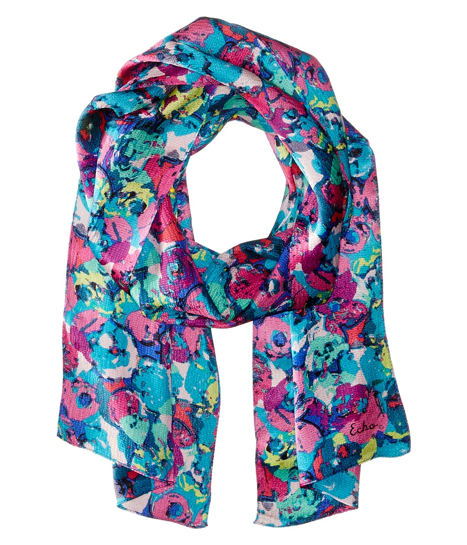 Echo Design - Painted Roses Oblong (Multi) Scarves