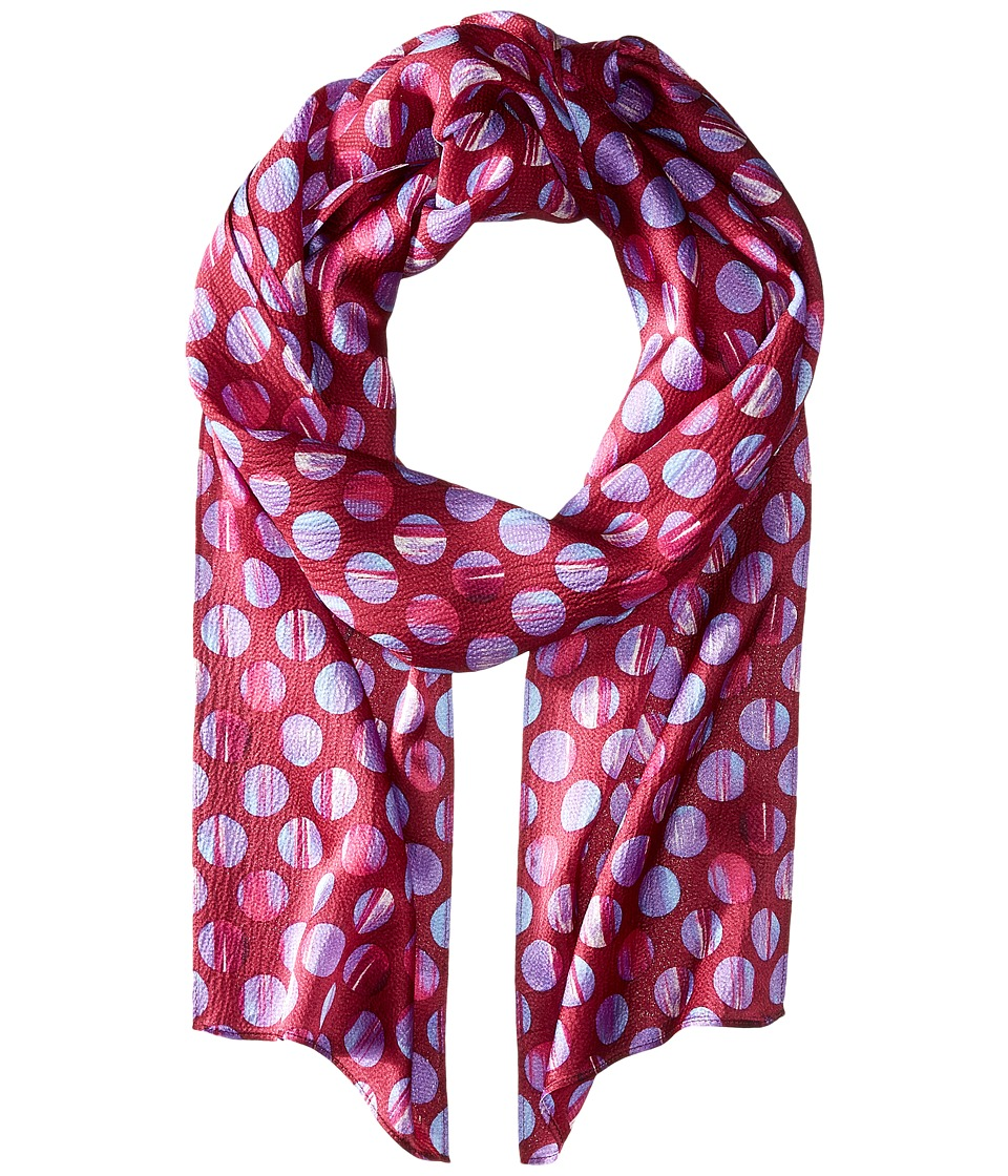 Echo Design - Textured Dots Long Skinny (Orchid Punk) Scarves