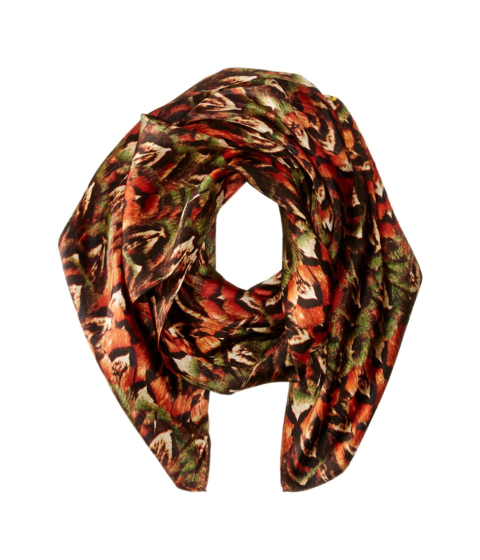 Echo Design - Forget Me Not Floral Oblong (Black) Scarves