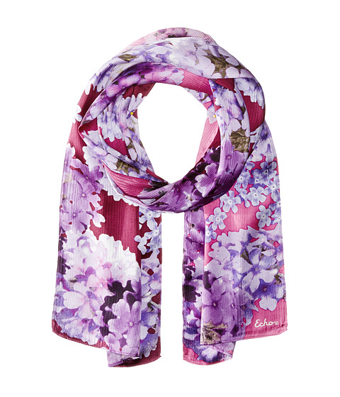 Echo Design - Forget Me Not Floral Oblong (Forest Berry) Scarves