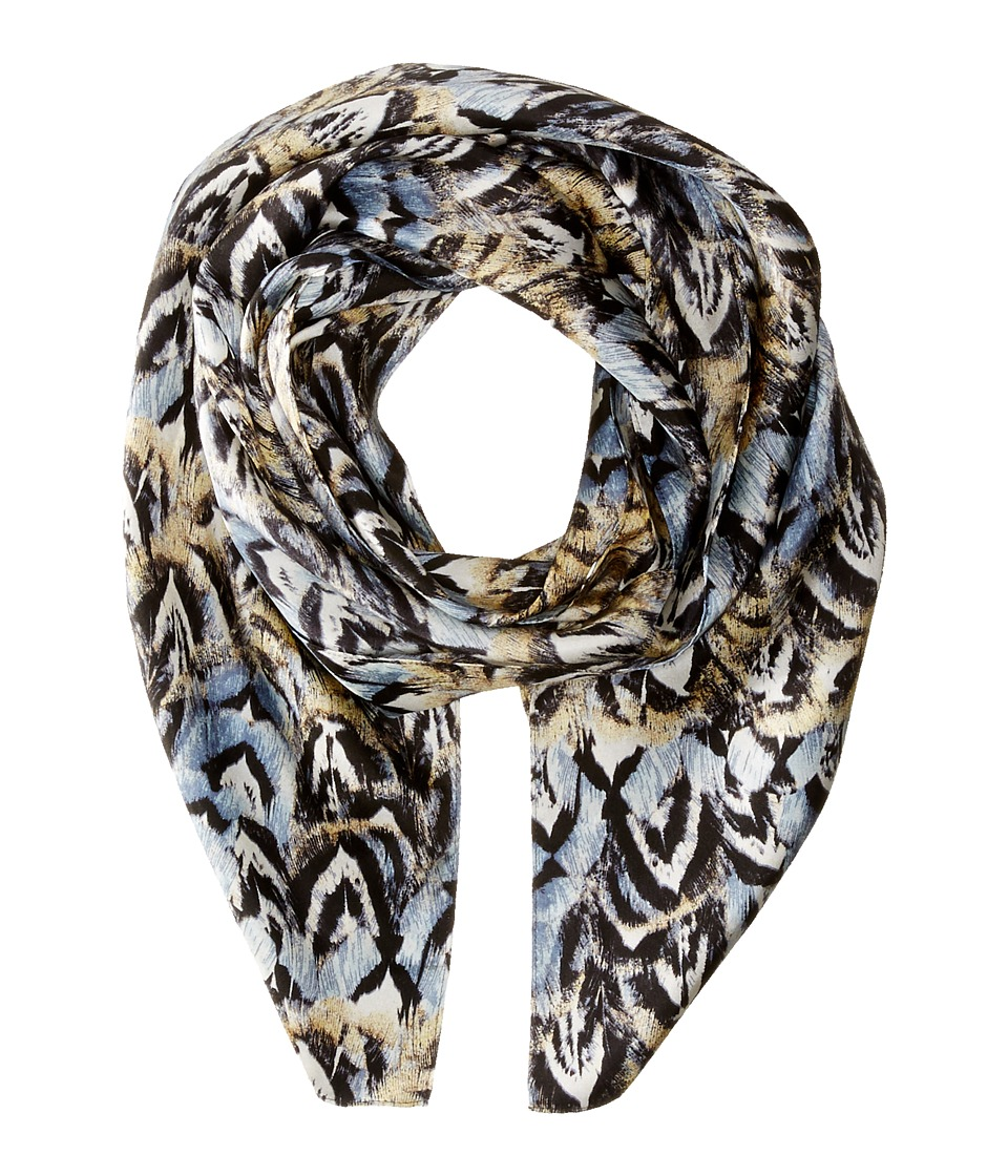 Echo Design - Pheasant Feathers (Black) Scarves