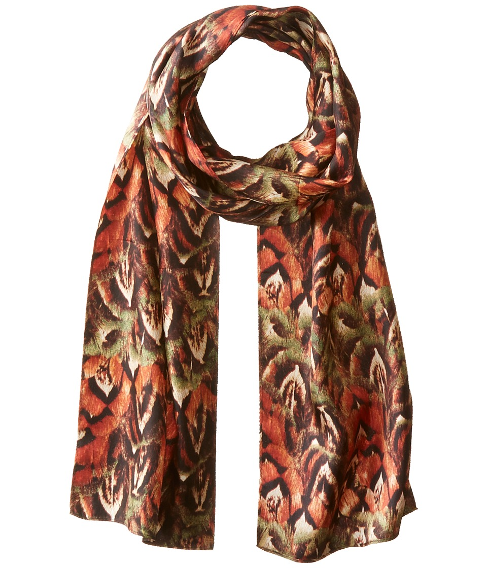 Echo Design - Pheasant Feathers (Red Rust) Scarves