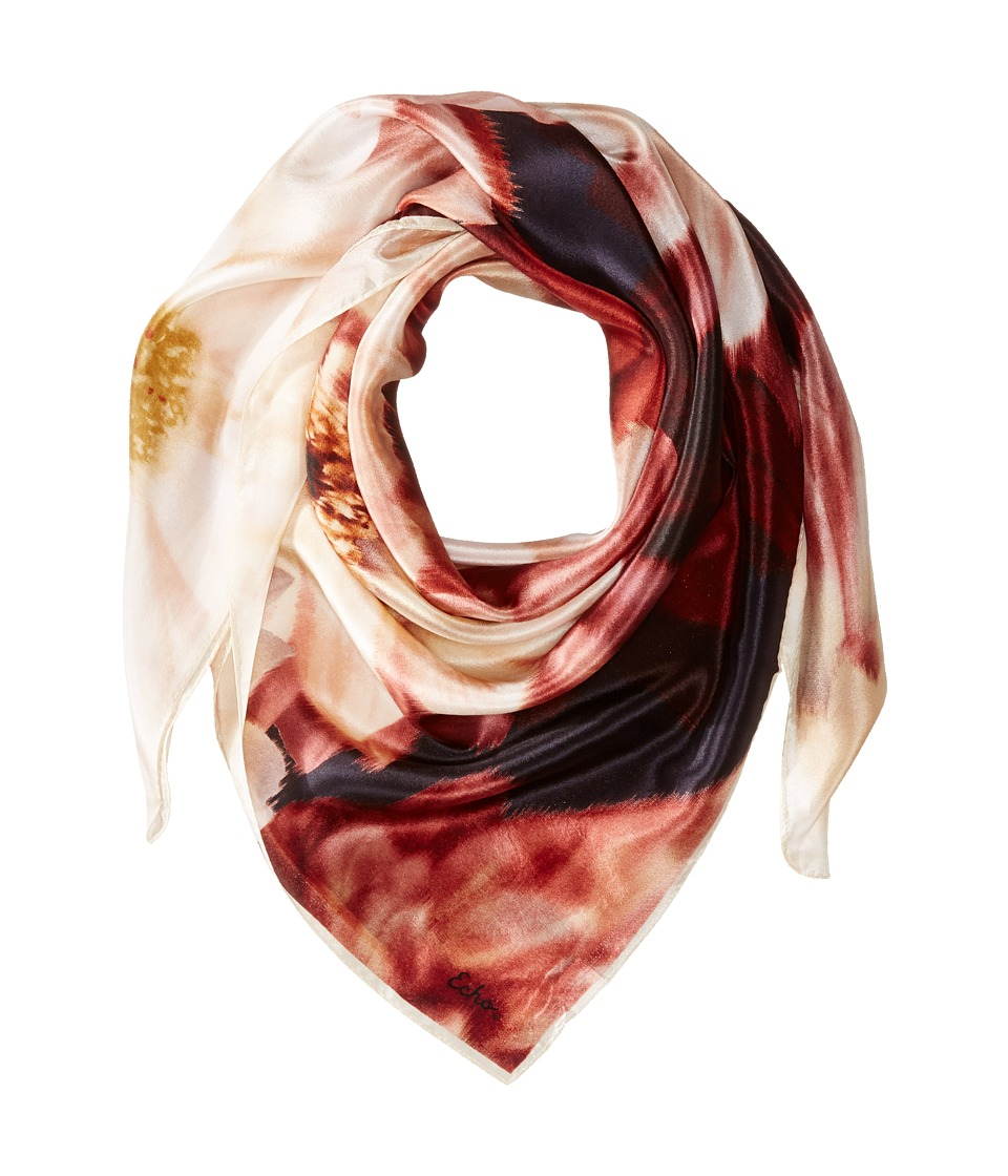 Echo Design - Floral Mist Square (Black) Scarves