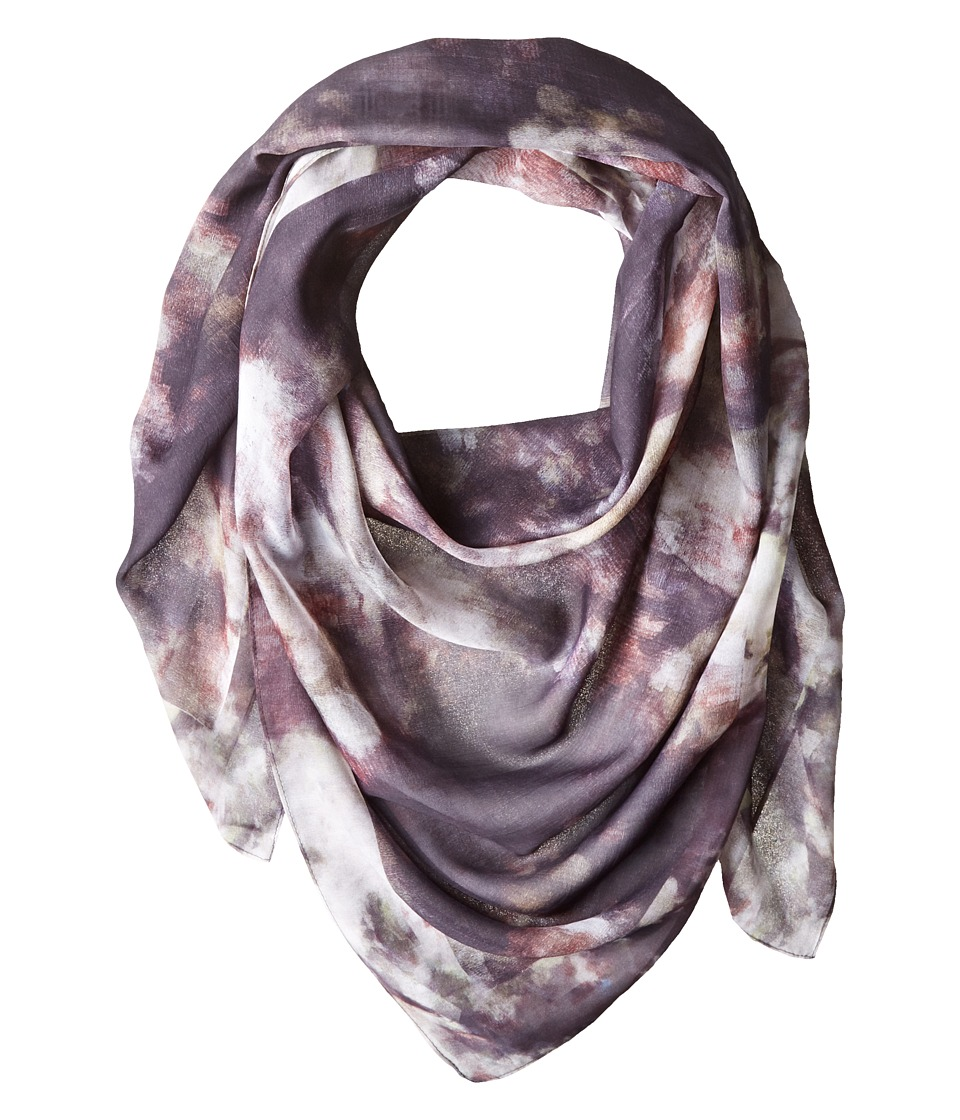 Echo Design - Oil on Canvas Oversized Square (Black) Scarves