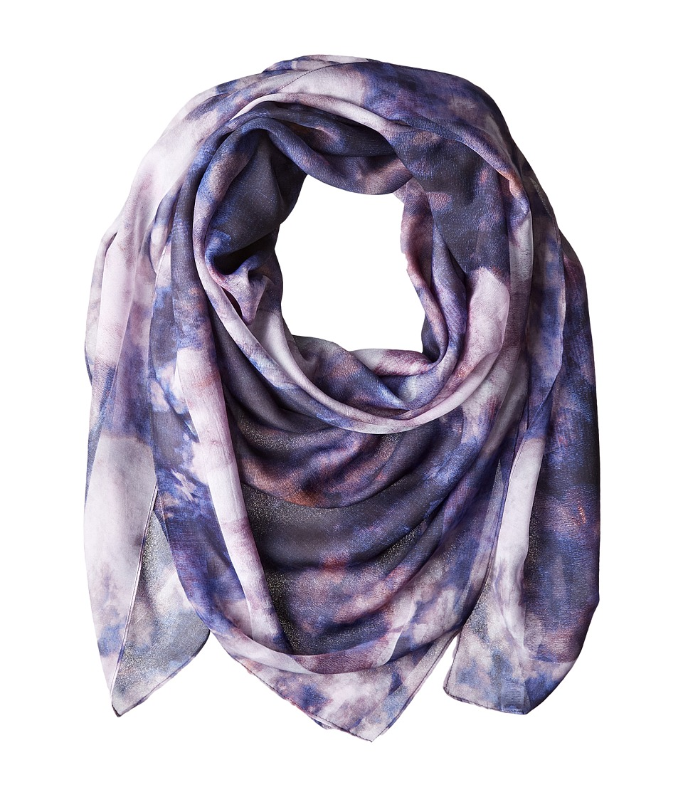 Echo Design - Oil on Canvas Oversized Square (Deep Denim) Scarves