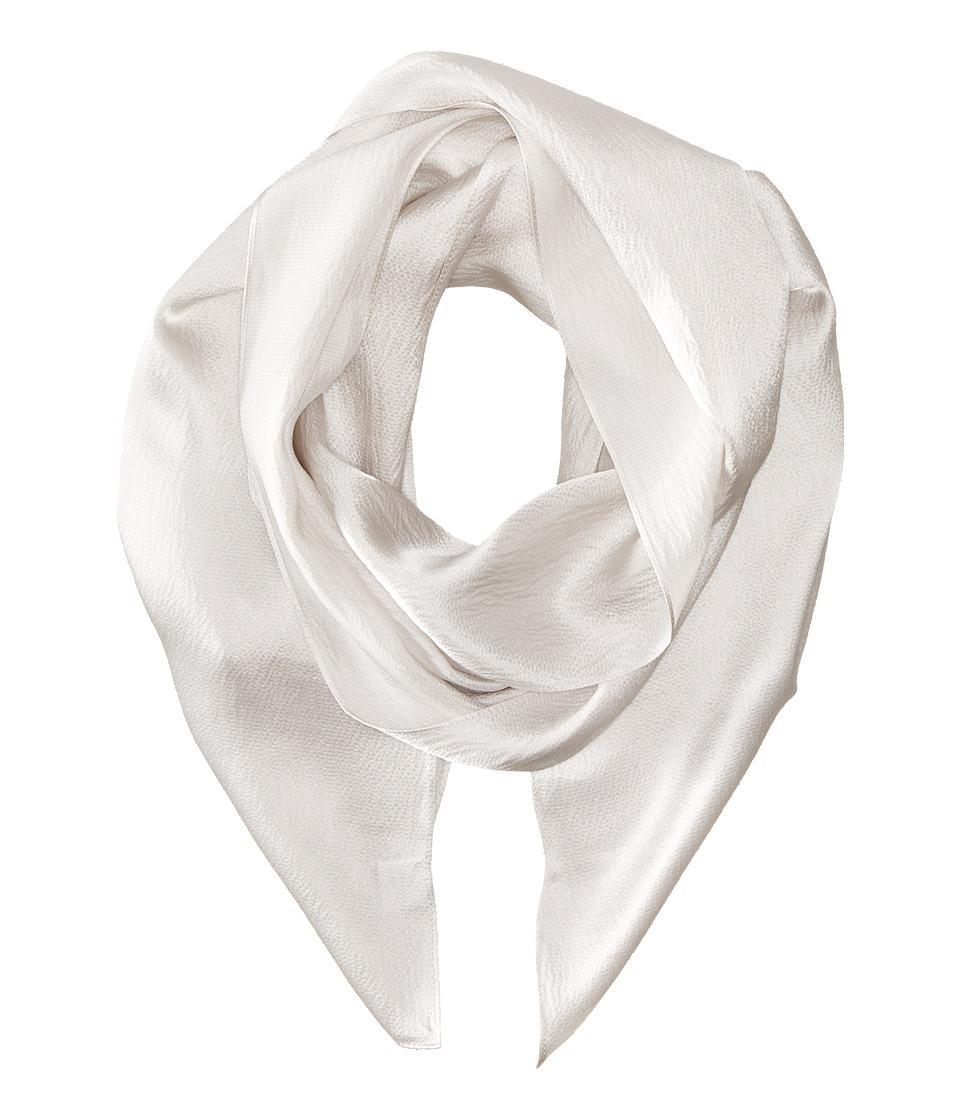 Echo Design - Solid Long Skinny Silk Oblong (Vapor Grey) Scarves