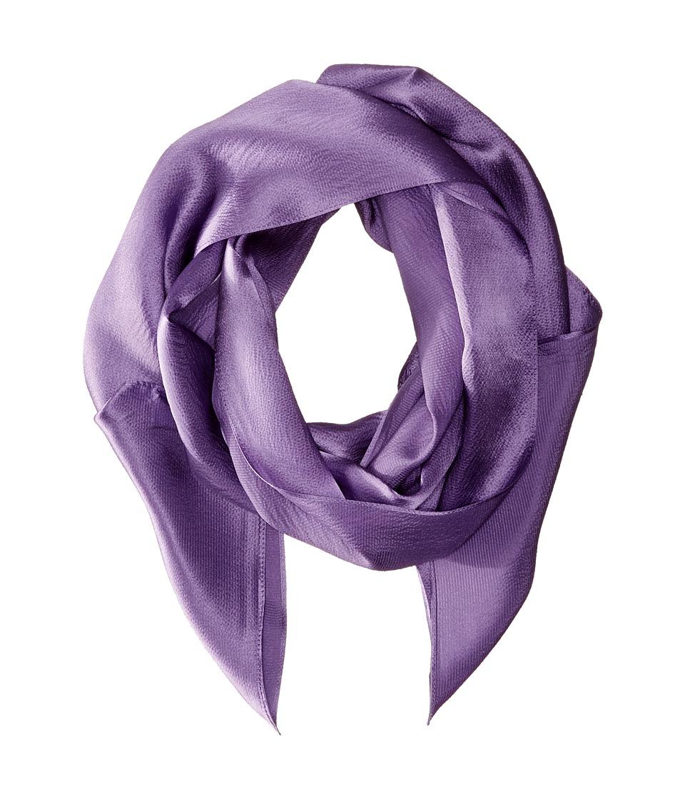 Echo Design - Solid Long Skinny Silk Oblong (Dusty Prune) Scarves