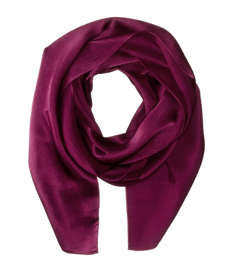Echo Design - Solid Long Skinny Silk Oblong (Plum Wine) Scarves