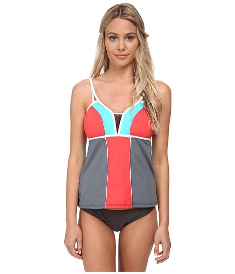 Nautica - Off The Block Tankini Swimwear Top NA20146 (Coral) Women's Swimwear
