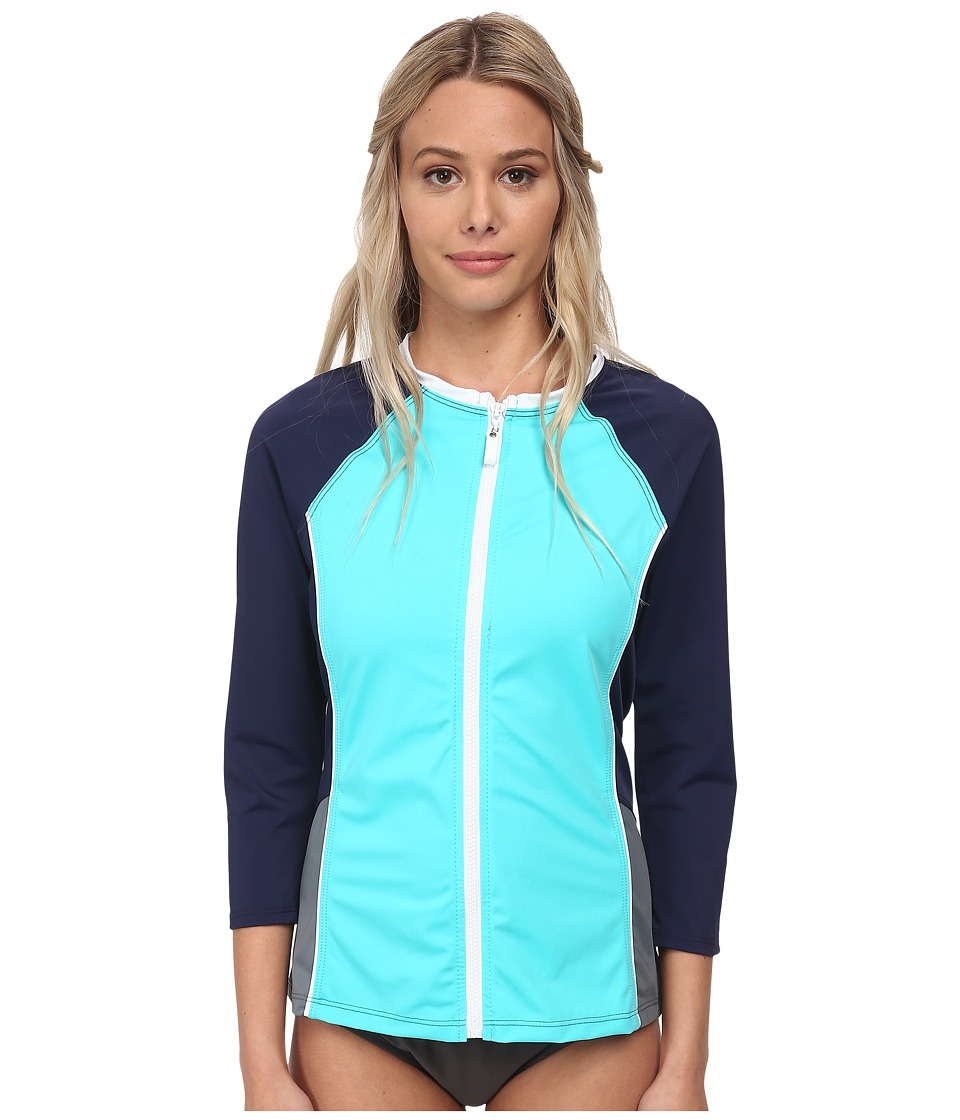 Nautica - Off The Block Surf Shirt Cover-Up Top NA20716 (Aqua) Women