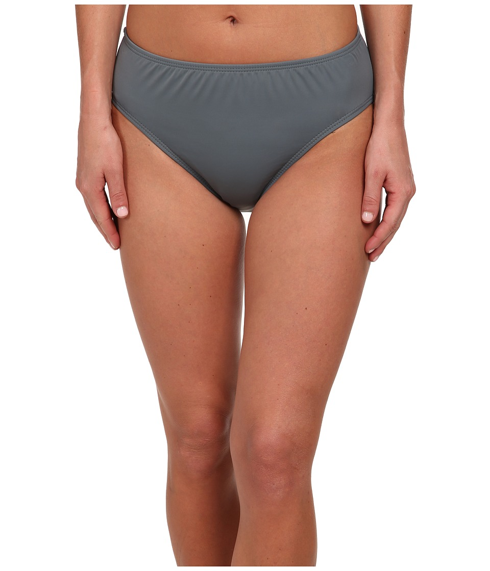 Nautica - Hold The Line High Waist Swimwear Bottom NA21356 (Grey) Women's Swimwear