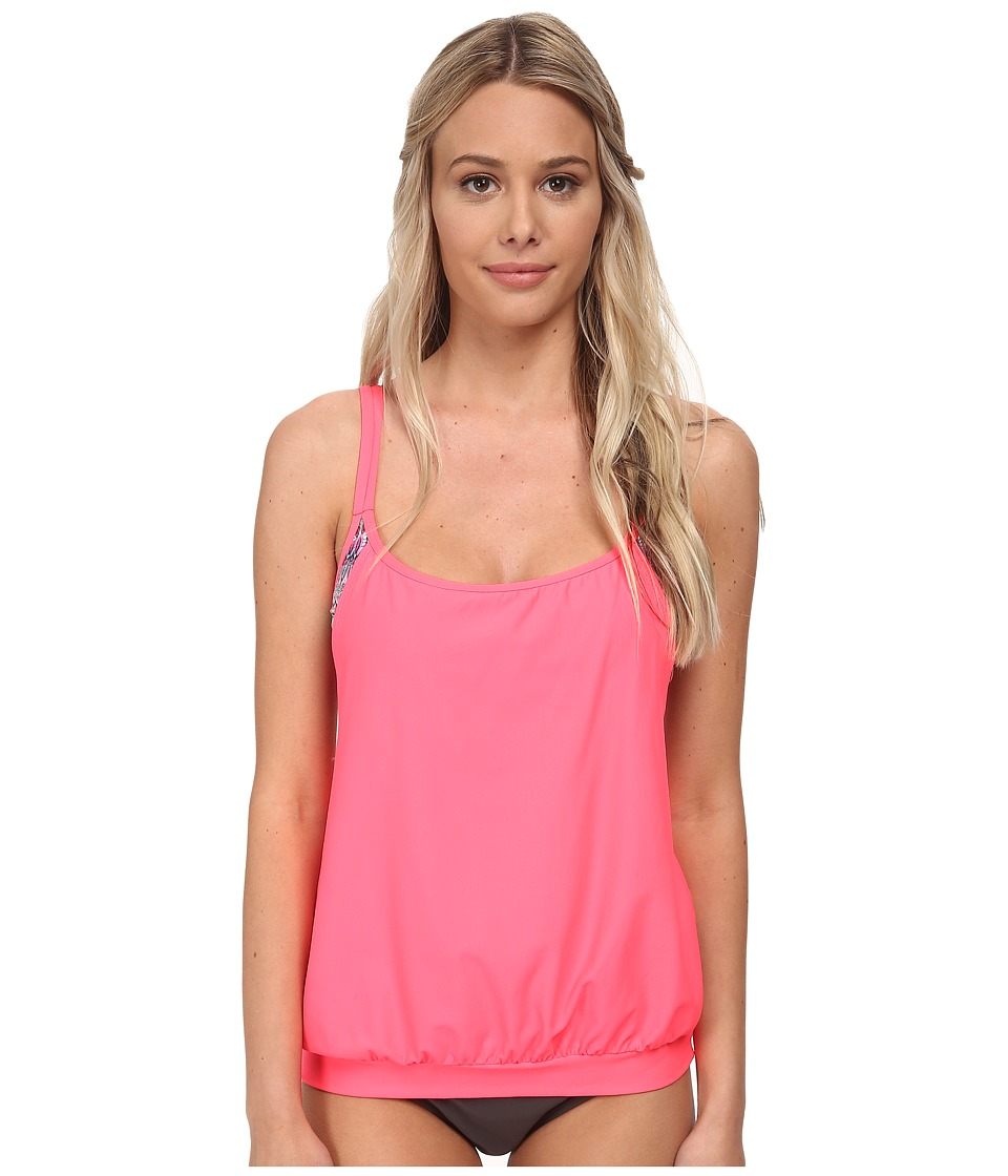 Next by Athena - Soul Energy Soft Cup Tankini Swimwear Top (Coral) Women's Swimwear