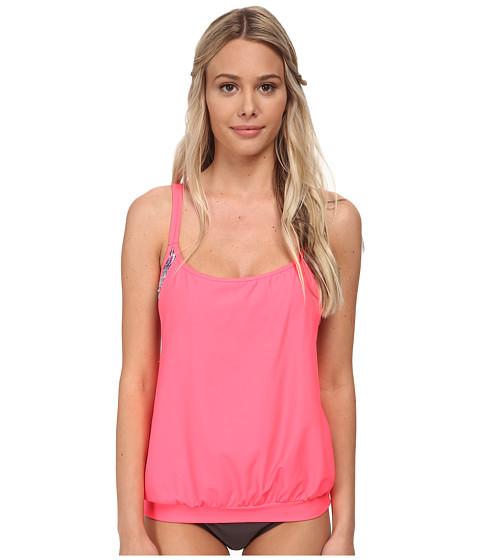 Next by Athena - Soul Energy Soft Cup Tankini Swimwear Top (Coral) Women's Swimwear